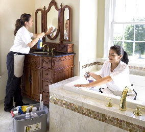 house cleaning services bathrooms